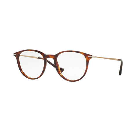 Persol // Men's Round Optical Frames // Havana + Brown