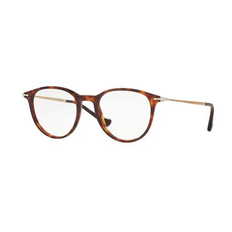 Persol // Men's Round Optical Frames // Havana + Brown