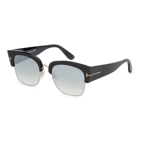 Women's FT0554-01C Sunglasses // Shiny Black + Smoke Mirror