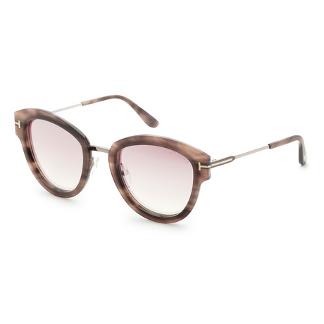 Women's Mia Sunglasses // Colored Havana + Pink Gradient