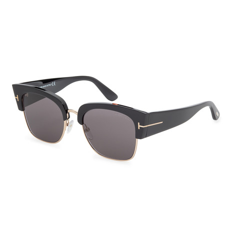 Women's FT0554-01A Sunglasses // Shiny Black + Smoke