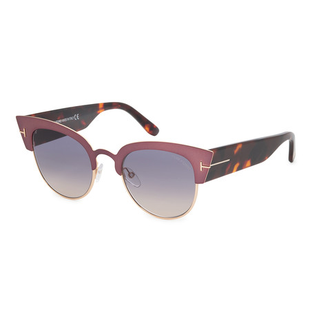 Women's FT0607-74B Sunglasses // Havana + Smoke Gradient