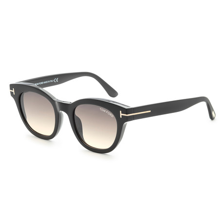 Women's Elizabeth Sunglasses // Shiny Black + Smoke Mirror
