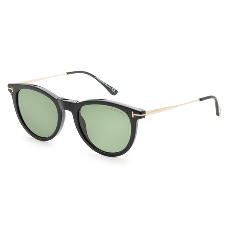 Unisex Kellan Sunglasses // Shiny Black + Green