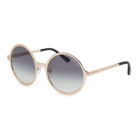 Women's Ava Sunglasses // Shiny Rose Gold + Smoke Gradient