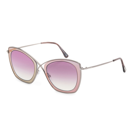 Women's FT0605-77T Sunglasses // Fuchsia + Bordeaux Gradient