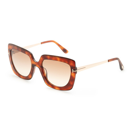 Women's Jasmine Sunglasses // Blonde Havana + Brown Gradient