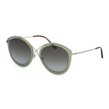 Women's FT0604-20B Sunglasses // Gray + Smoke Gradient