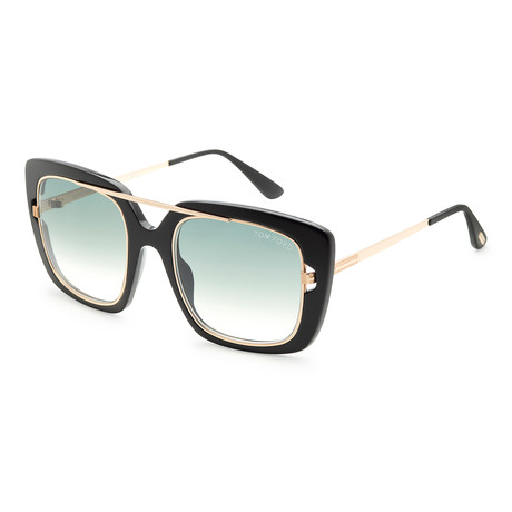 Women's Marissa Sunglasses // Shiny Black + Smoke Gradient
