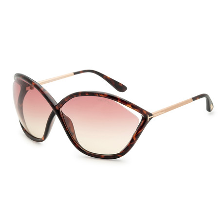 Women's Bella Sunglasses // Dark Havana + Violet Gradient Mirror