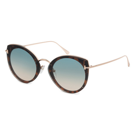 Women's FT0683-53P Sunglasses // Blonde Havana + Green Gradient