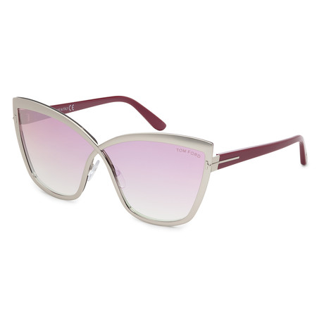 Women's FT0715-16Z Sunglasses // Shiny Palladium + Pink Gradient