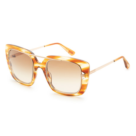 Women's Marissa Sunglasses // Light Brown + Brown Gradient