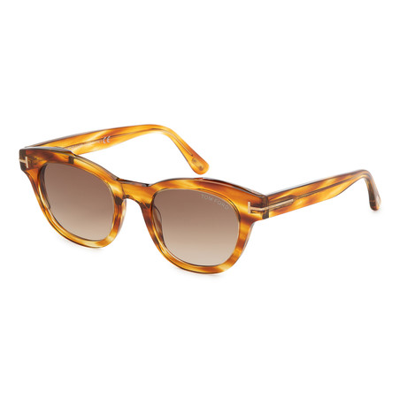 Women's Elizabeth Sunglasses // Light Brown + Brown Gradient