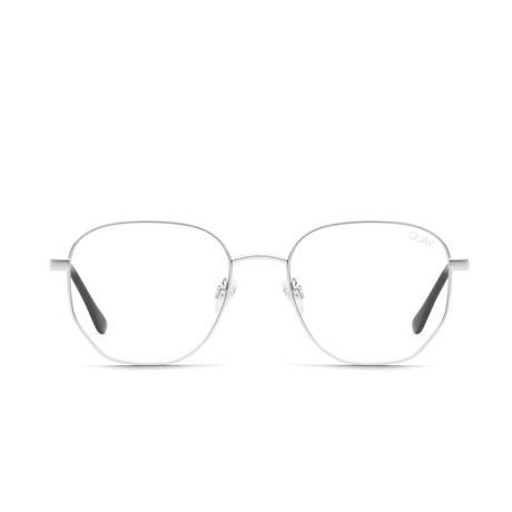 Unisex Big Time Blue-Light Blocking Glasses // Silver