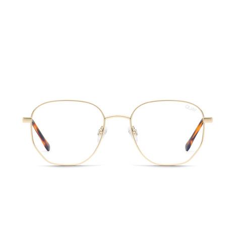Unisex Big Time Blue-Light Blocking Glasses // Gold