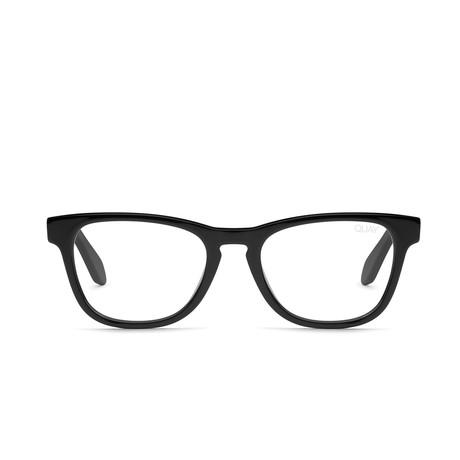 Unisex Hardwire Mini Blue-Light Blocking Glasses // Black