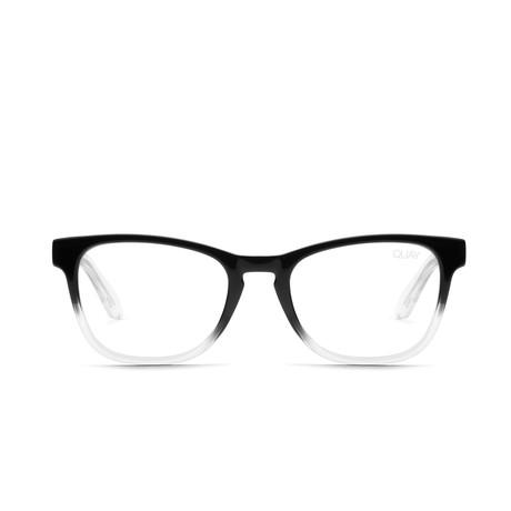 Unisex Hardwire Mini Blue-Light Blocking Glasses // Black + Clear