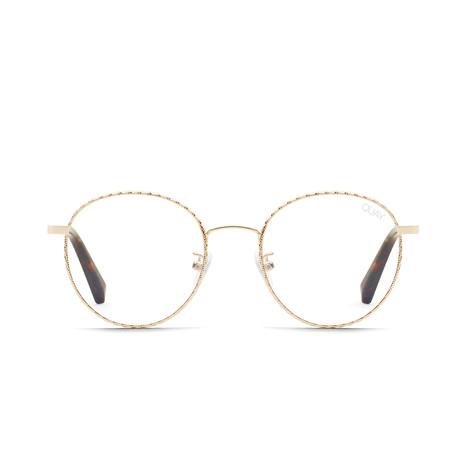 Unisex I See You Blue-Light Blocking Glasses // Gold