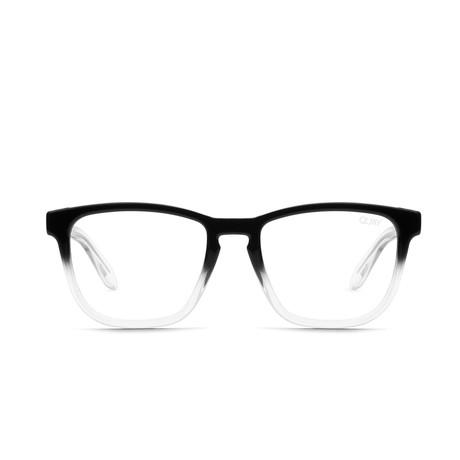 Unisex Hardwire Blue-Light Blocking Glasses // Black + Clear