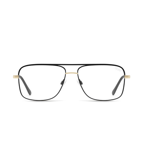 Unisex Poster Boy Mini Blue-Light Blocking Glasses // Black + Gold
