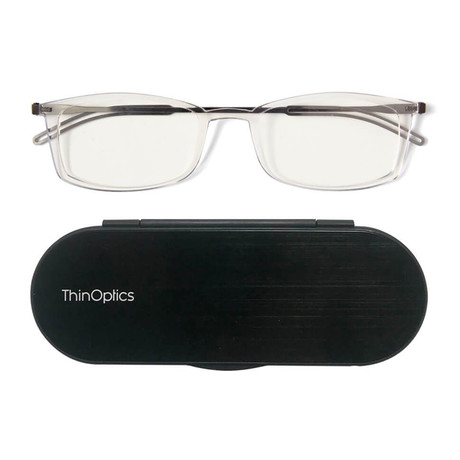 FrontPage // Brooklyn Glasses + Milano Black Case // Clear (+1.50)