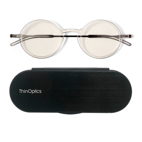 FrontPage // Manhattan Glasses + Milano Black Case // Clear (+1.50)
