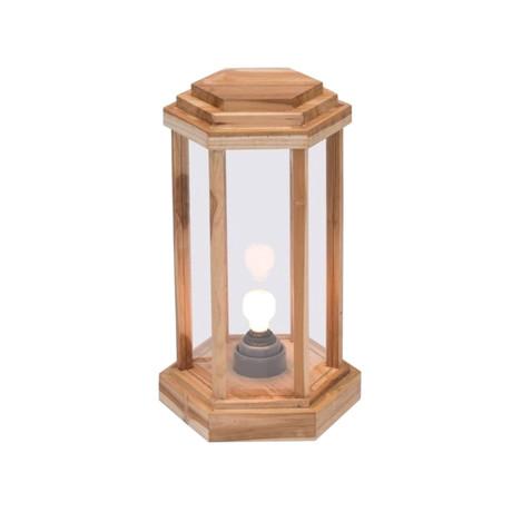 Laterne Teak Wood Floor Lamps // Set of 3