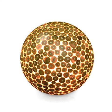 Bengal Teak Wood Ball Floor Lamp (Small)
