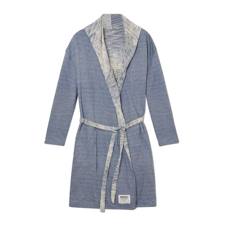 Cassidy Reversible Hooded Robe // Cerulean Blue (S)