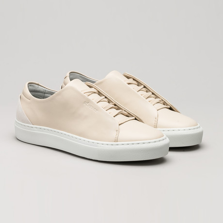 Minimal Low Sneakers V8 // Beige Leather + Plaster (Euro: 40)