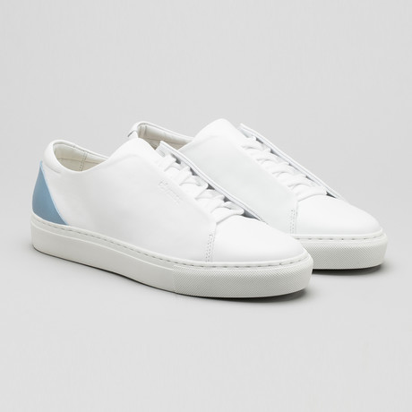 Minimal Low Sneakers V11 // White Leather + Artic Heel (Euro: 40)