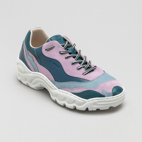 Landscape Sneakers V5 // Ocean Blue + Lavender + Artic Blue + Petrol Blue (Euro: 40)