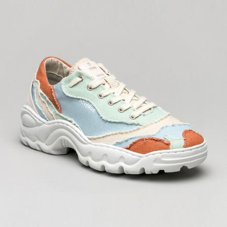 Landscape Canvas Sneakers V3 // Antique White + Sky + Sage Green + Brick (Euro: 40)