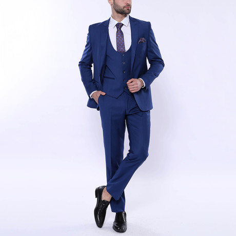 Milo 3-Piece Slim Fit Suit // Navy (Euro: 42)