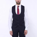 William 3-Piece Patterned Slim Fit Suit // Navy (Euro: 42)