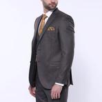 Samuel 3-Piece Stripe Slim Fit Suit // Brown (Euro: 56)