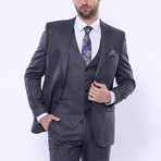 Sebastian 3-Piece Stripe Slim Fit Suit // Navy (Euro: 52)