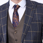 Hudson 3-Piece Slim Fit Suit // Navy (Euro: 52)