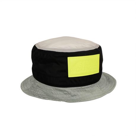 Palm Angels // Color Block Logo Bucket Hat // Multicolor