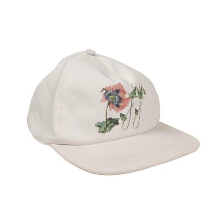 Off-White // Floral Design Baseball Cap // White