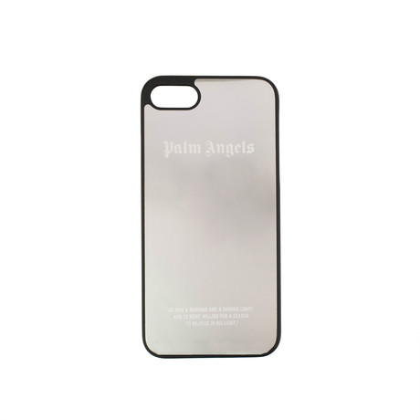 Palm Angels // Logo iPhone 8 Case // Silver