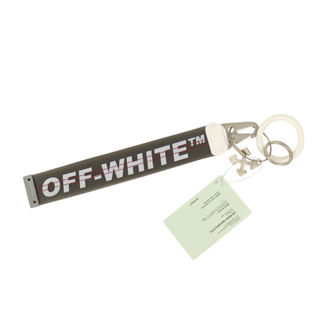 Off-White // Logo Printed Key Chain // Gray