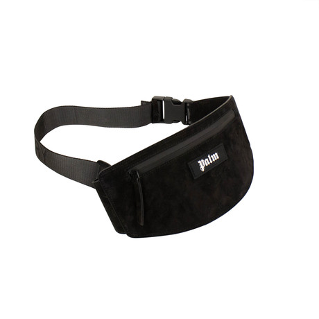 Palm Angels // Suede Fanny Pack // Black
