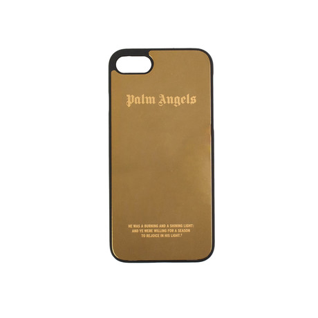 Palm Angels // Logo iPhone 8 Case // Gold