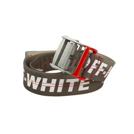 Off-White // Rubber Logo Industrial Belt // Black
