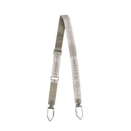 Off-White // Silver Gray Industrial Logo Shoulder Strap // Silver + Gray