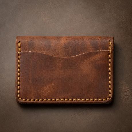 5 Card Wallet // English Tan