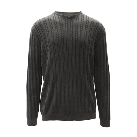 McDowell V-Neck Sweater // Charcoal (S)