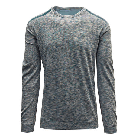 Rockwell Sweater // Silk White + Aquamarine (S)